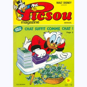Picsou Magazine : n° 34, Chat suffit comme chat !